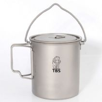 TBS Outdoor 750ml Titanium Pot/Canteen Pot with Bail Handle